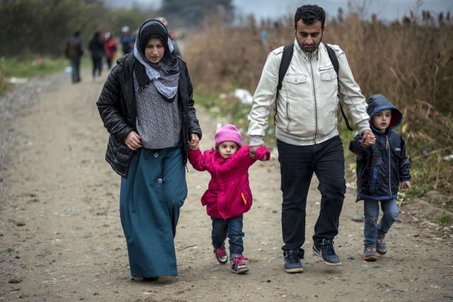 Une première famille de réfugiés syriens sera bientôt... (Archives AFP)