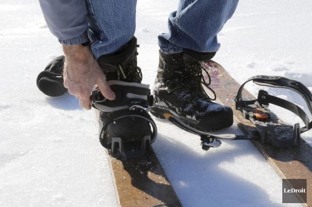La pratique du ski-raquette compte de plus en plus d'adeptes dans la région,... (Patrick Woodbury, LeDroit)