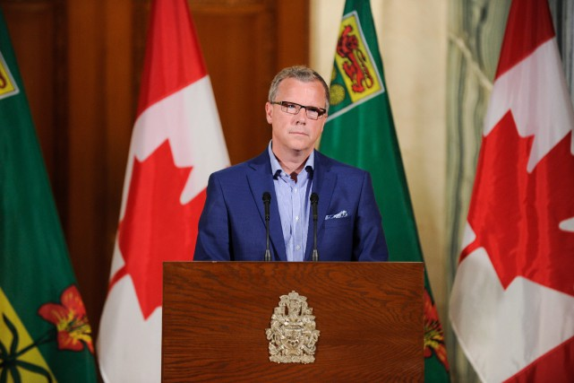 Brad Wall, premier ministre de la Saskatchewan... (PHoto Mark Taylor, archives La Presse Canadienne)