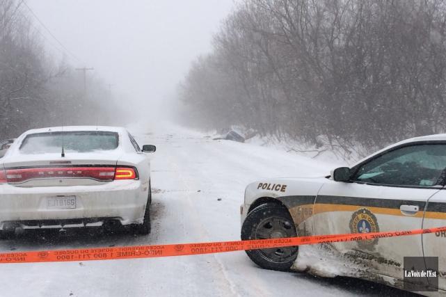 Une grave collision entre deux véhicules est survenue... (Photo Julie Catudal, La Voix de l'Est)