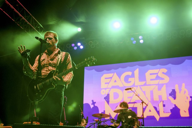 Les Eagles of Death Metal en concert à Los... (PHOTO ARCHIVES REUTERS)