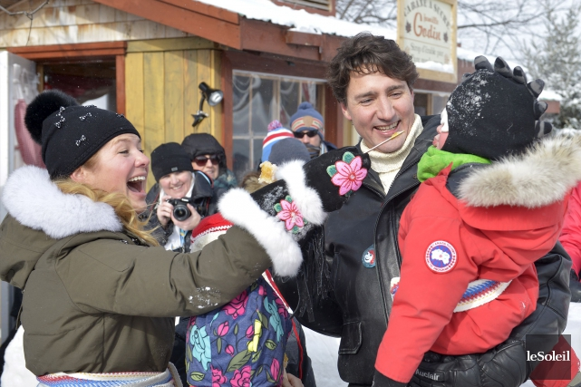 M. Trudeau est arrivé vers 11h samedi sur... (Le Soleil, Yan Doublet)