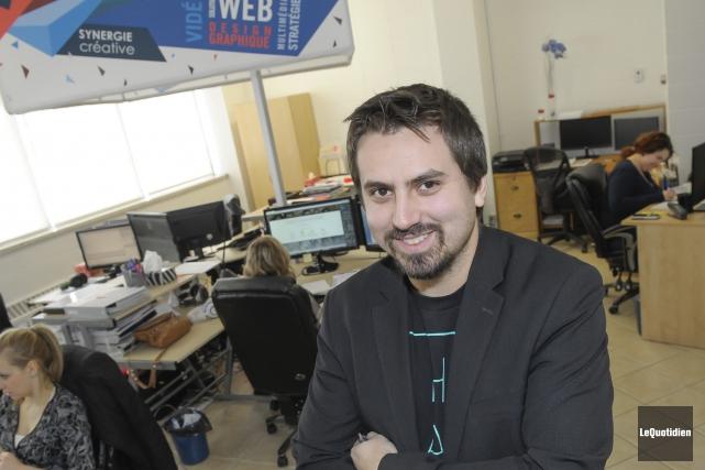 Jean-François Tremblay, d'Eckinox Média, voit beaucoup de potentiel... (Photo Le Quotidien, Gimmy Desbiens)