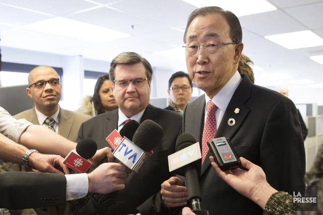 Le secrétaire général des Nations unies, Ban Ki-moon,... (La Presse, ROBERT SKINNER)