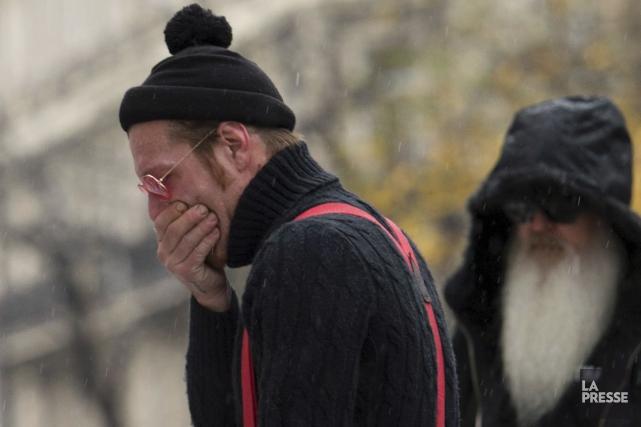 Jesse Hugues avait été submergé par l'émotion en... (Archives AFP, Miguel Medina)