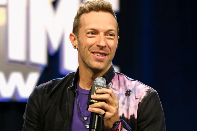Chris Martin, chanteur de Coldplay... (AFP, Chrstopher Polk/Getty Images)