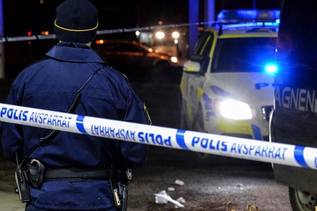 Les forces de l'ordre suédoises ont indiqué avoir arrêté un individu soupçonné... (Photo AFP)
