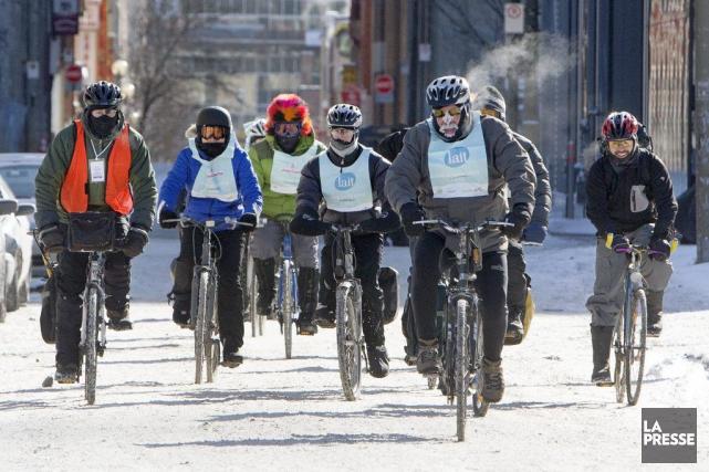 Cet événement de Vélo Québec visait à promouvoir... (PHOTO ROBERT SKINNER, LA PRESSE)