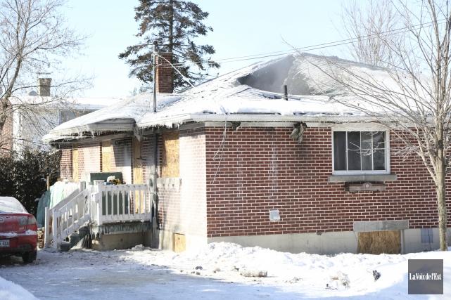 La maison a été lourdement endommagée lors de... (Julie Catudal, La Voix de l'Est)