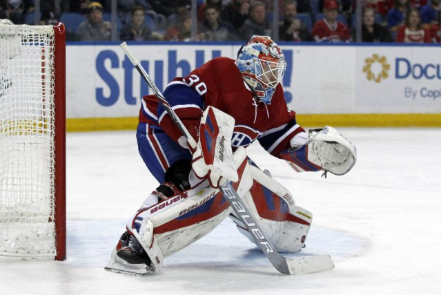 Mike Condon est venu en relève à Ben Scrivens,... (PHOTO TIMOTHY T. LUDWIG, USA TODAY)