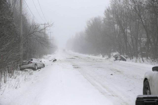 La collision mortelle est survenue vers 7h30 samedi,... (photo Julie Catudal)