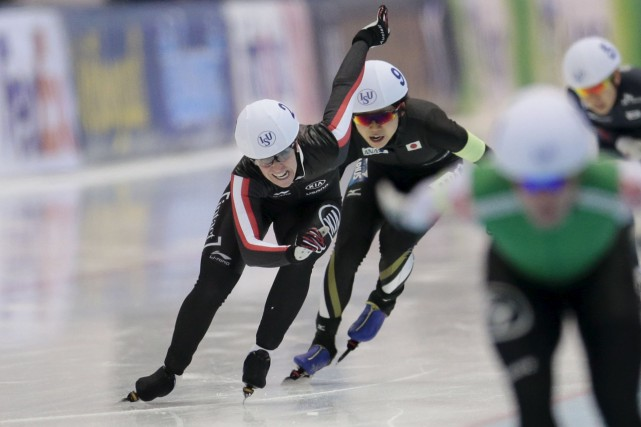 Ivanie Blondin a été sacrée championne du monde... (Ivan Sekretarev, AP)