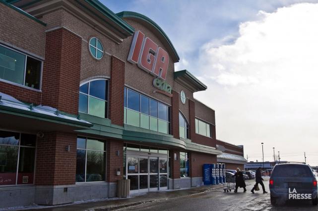 Une aire commerciale comprenant entre autres un supermarché de grande taille,... (Archives La Presse)