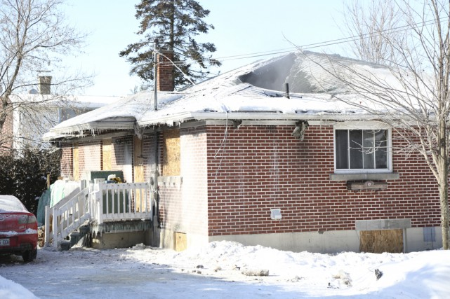 La maison a été lourdement endommagée lors de... (photo Julie Catudal)