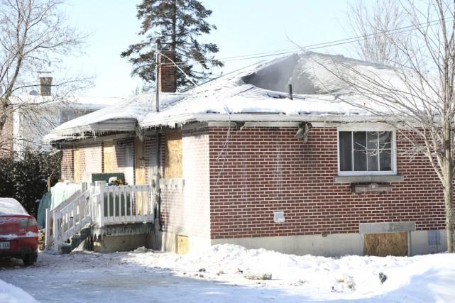 La maison a été lourdement endommagée lors de... (Julie Catudal)