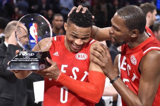 Russell Westbrook a été nommé le joueur le... (PHOTO REUTERS)