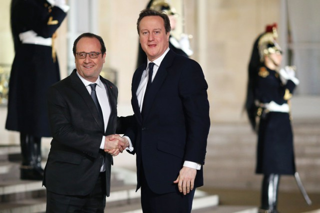 Le premier ministre britanniqueDavid Cameron a rencontré le... (PHOTO AFP)