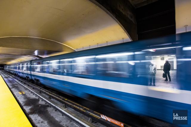 Le prolongement de la ligne bleue du métro... (PHOTO OLIVIER PONTBRIAND, LA PRESSE)