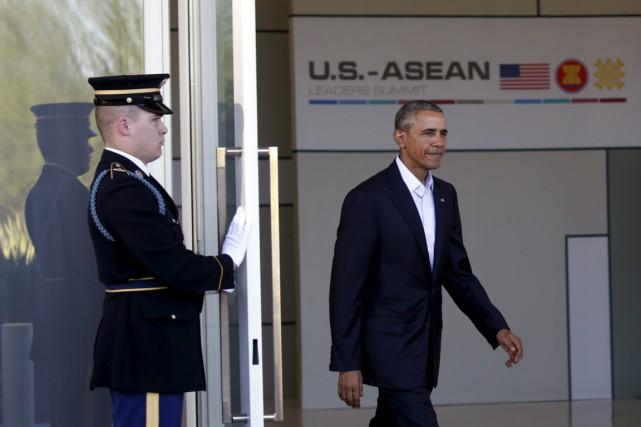 Le président américain Barack Obama a accueilli lundi en Californie les... (Photo Reuters)