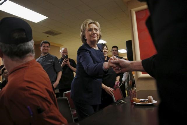 La candidate démocrate Hillary Clinton a passé la... (AP, John Locher)