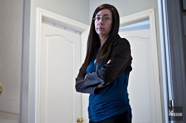 Marjolaine Aubé (photo), la mère de la fugueuse... (La Presse, Patrick Sanfaçon)