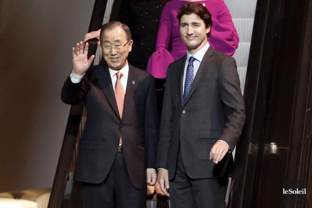 Le secrétaire général des Nations unies, Ban Ki-moon,... (Photothèque Le Soleil)