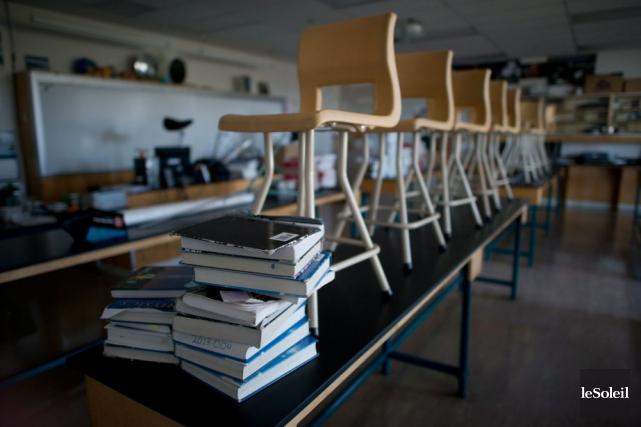 La plupart des écoles de la région estrienne sont fermées en raison des... (Archives Le Soleil)