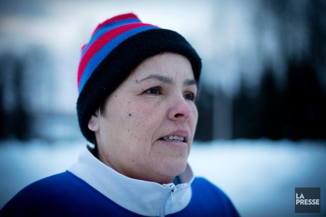 Ghislaine Brazeau, la mère d'Anthony Papatie, essayait de... (PHOTO OLIVIER JEAN, LA PRESSE)