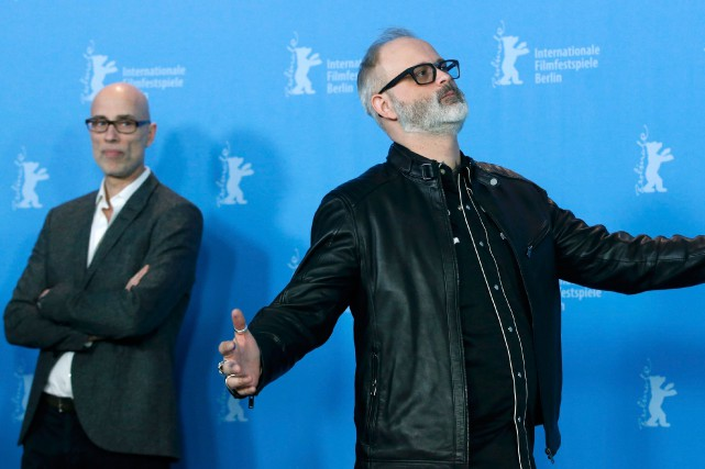 James Hyndman et Denis Côté à la Berlinale.... (PHOTO REUTERS)