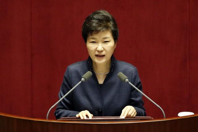Dans un discours à l'Assemblée nationale à deux... (Photo Lee Jin-man, AP)