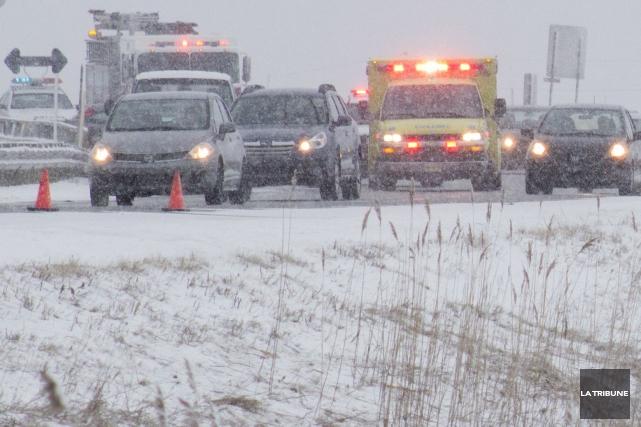 Le Service de police de Sherbrooke et la Sûreté du Québec signalent quelques... (Archives La Tribune)