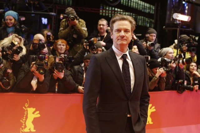 Colin Firth sur le tapis rouge à la... (PHOTO AP)