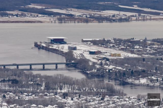 Photo aérienne du site de Trois-Rivières sur Saint-Laurent,... (François Gervais Le Nouvelliste)