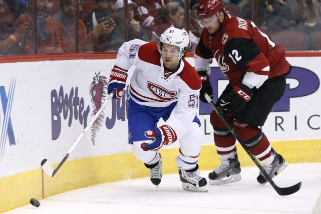 David Desharnais lors du match de lundi.... (Photo AP)