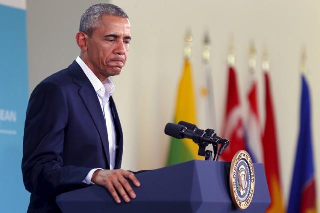 Barack Obama s'est ainsi exprimé lors d'une conférence... (PHOTO REUTERS)