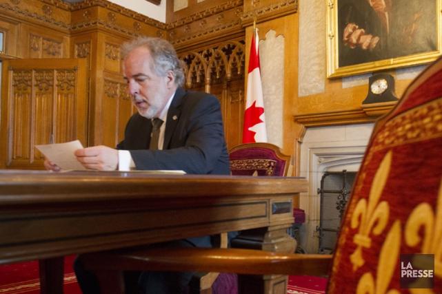 Le chef intérimaire duBloc Québécois,Rhéal Fortin.... (PHOTO IVANOH DEMERS, LA PRESSE)