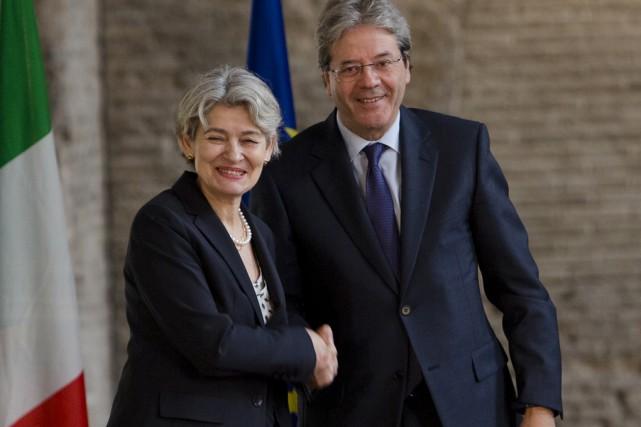 Le ministre italien des Affaires étrangères, Paolo Gentiloni,... (Associated Press)
