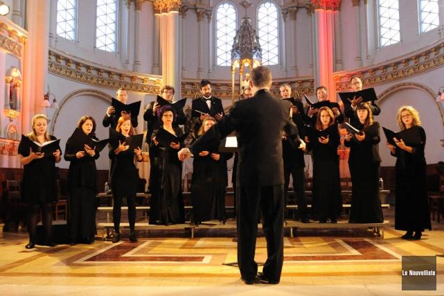 L'ensemble Vocalys (que l'on voit ici lors de... (Andréanne Lemire, Le Nouvelliste)