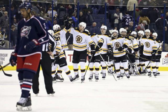Loui Eriksson a marqué à 33 secondes du début de la prolongation et les Bruins... (PHOTO REUTERS)