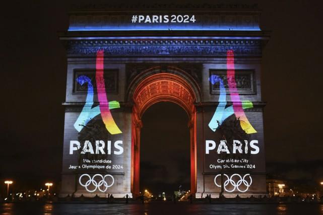 L'Arc de Triomphe de Paris a été utilisé... (Agence France-Presse)