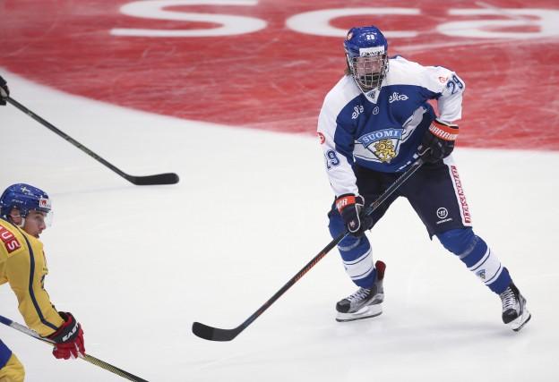 Le Finlandais Patrik Laine, l'un des héros de... (AP, Soren Andersson)