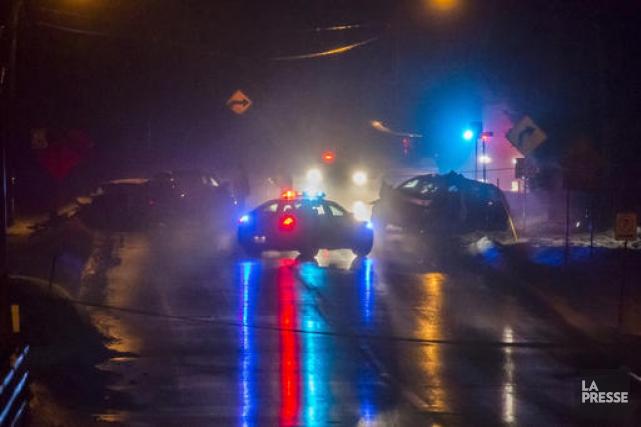 L'accident a eu lieu sur la route 222... (Spectre Média, Frédéric Côté)