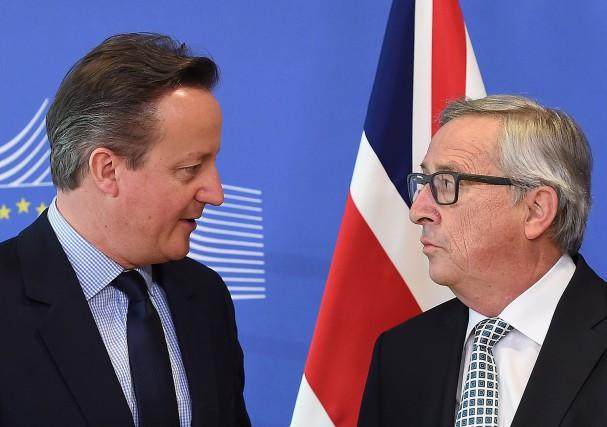 Le premier ministre britannique David Cameron a été... (PHOTO EMMANUEL DUNAND, AFP)