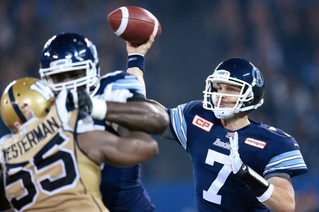 Trevor Harrisvoulait être l'un des quarts-arrières les mieux... (PhotoFrank Gunn, archives La Presse Canadienne)