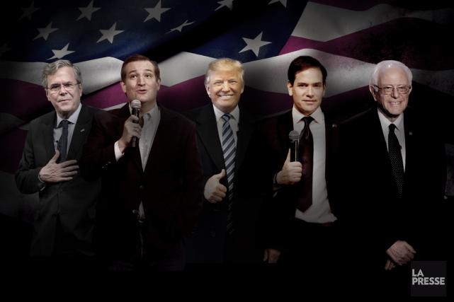 De gauche à droite: Jeb Bush, Ted Cruz,... (PHOTOMONTAGE LA PRESSE)