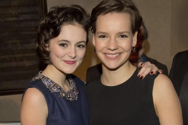 La jeune Lea van Acken (à gauche) incarne... (AFP, Jûrg Carstensen)