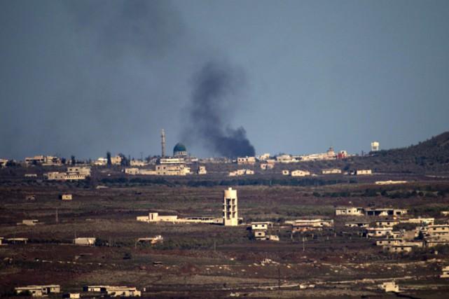 Trois frappes isaéliennes ont visé une position de l'armée syrienne au sud de... (PHOTO AFP)