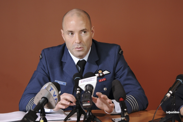 Le commandant de la Base de Bagotville, le... (Photo Le Quotidien, Mariane L. St-Gelais)