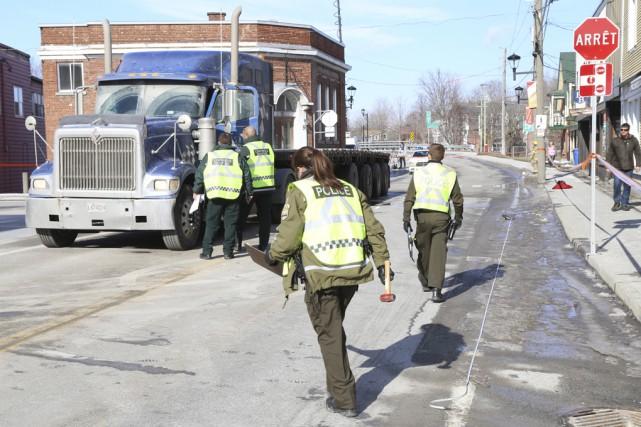 La Sûreté du Québec confirme que le camionneur... (Janick Marois)