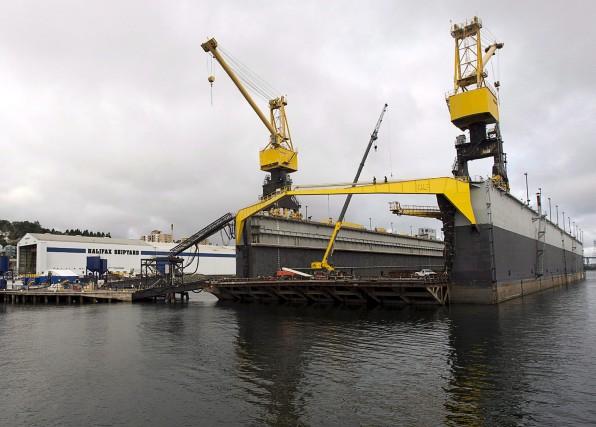 Lechantier de Seaspan à Halifax... (La Presse Canadienne, Andrew Vaughan)